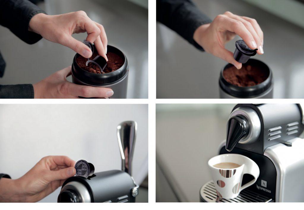 coffeduck, navulsysteem voor nespresso machines